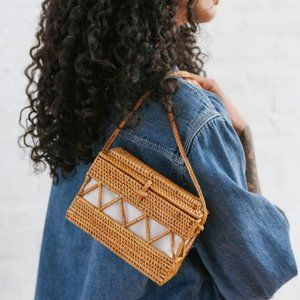 UO Straw Structured Crossbody Bag